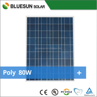 Bluesun high effeciency mono pv solar panels 80w for sale