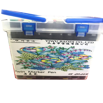 Faber Baodi 48 colors/set Twin Markers In Permanent Marker Pen set