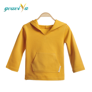 plain color elastic organic cotton baby hoodie