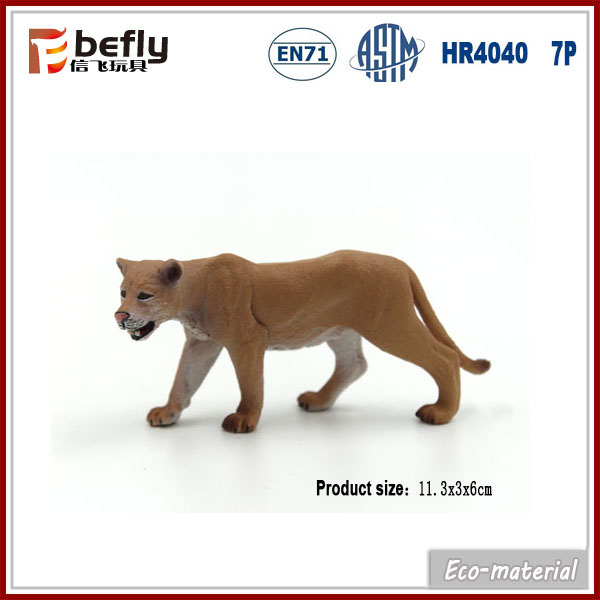 11.3cm kids small toy plastic lion figurine for sale