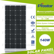 China origin high efficiency mono 140w panel solar kit made in China