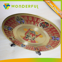 High Polished Flat Metal Plate Type High Quality Hard Enamel Cheap Decorative Medal Tray