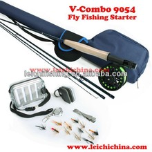 Starter ready-to-fish outfit fly fishing combo