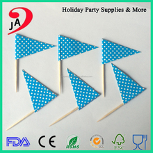 Wholesale Hot Sale Decorating Party Flag Picks Printing Cupcake Flag Toothpicks