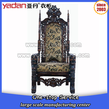 king and queen chairs antique furniture high back wooden royal chair