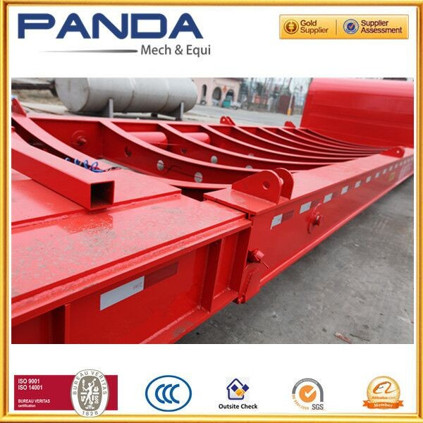 100t three axle extensible lowbed semi trailer for heavy duty mechinery