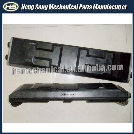 PC120/PC130/PC200 crawler machinery undercarriage parts of crawler excavator rubber track pad