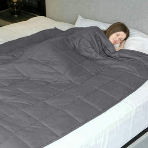 """Amazon luxury various sizes gravity anxiety sensory weighted blanket 60*80"""" 15LBS/20LBS/25LBS for kids and adults"""