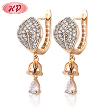 Fashion Gold Plated Drop Earrings Best Famous Name Brand Jewelry