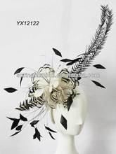 Exaggerated and large feather fascinator on headband