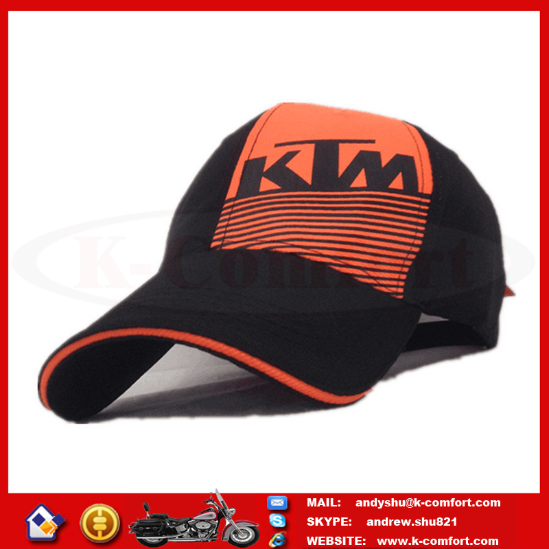 KTM01 High quality Black Motorcycle accessories Motorcross caps Motorcycle sport caps Motorcycle racing caps for sale