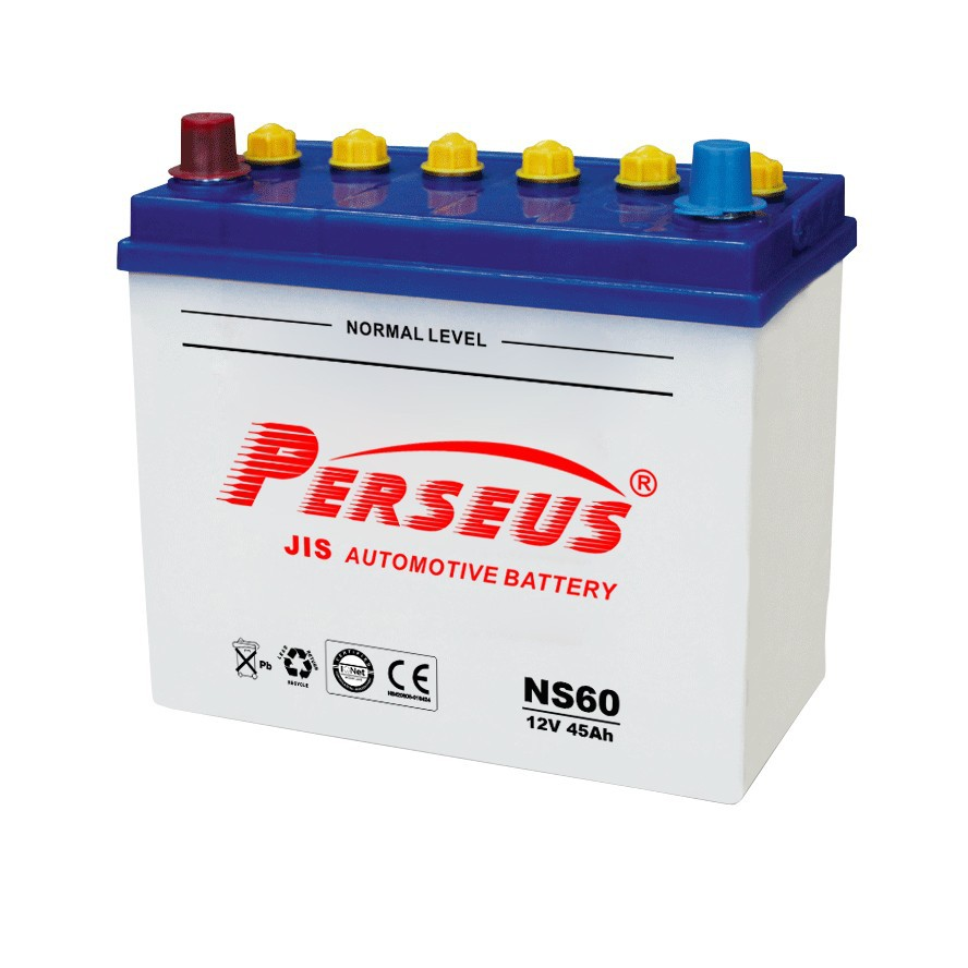 Electric car dry batteries NS60 12V 45Ah dry charged car battery JIS type lead acid battery