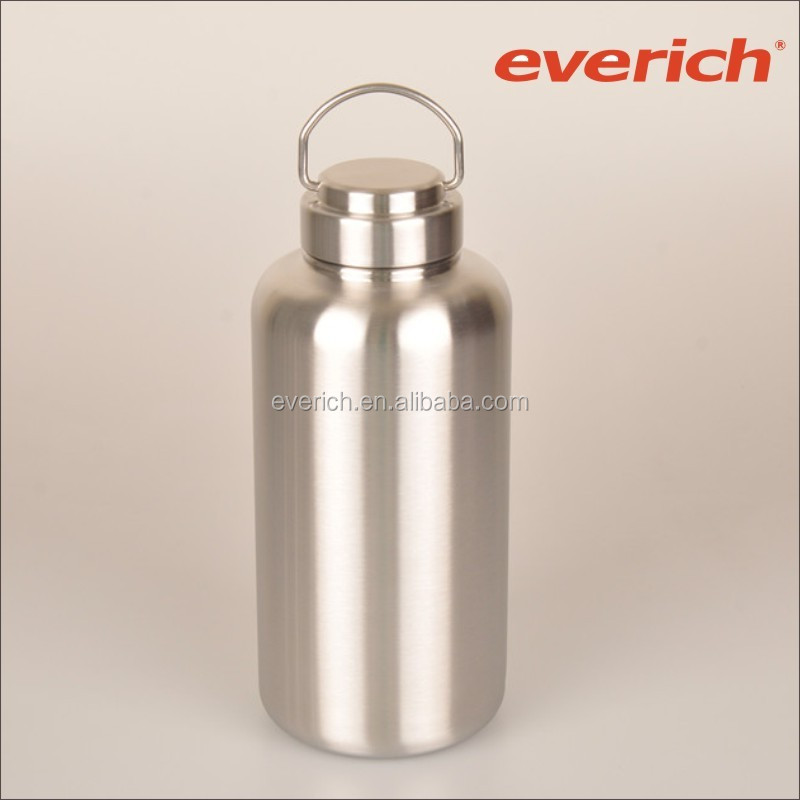 big volume easy carry wide mouth stainless steel bottle single wall