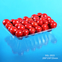 clear plastic PET packaging food tray for fruit and vegetable