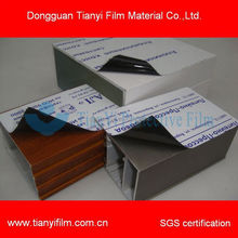 stable quality self adhesive plastic film for glass