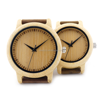 hot selling 2017 Bamboo Watch,wristwatches genuine leather bamboo wooden watches
