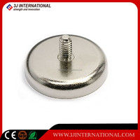 neodymium( NdFeB) pot magnet/magnetic assembly with thread