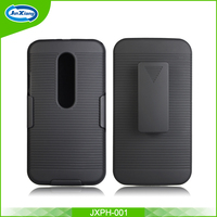 best sell product mobile phone shell pattern holster case for Motorola moto g3 with back clip