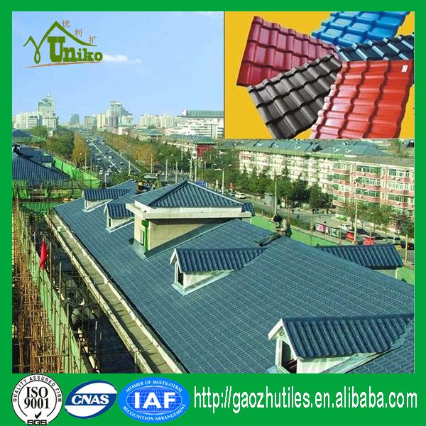 excellent quality anti-corrosion color roof/plastic roof tile/sun roof for house
