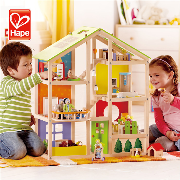Educational wooden intelligence mini wooden house toy