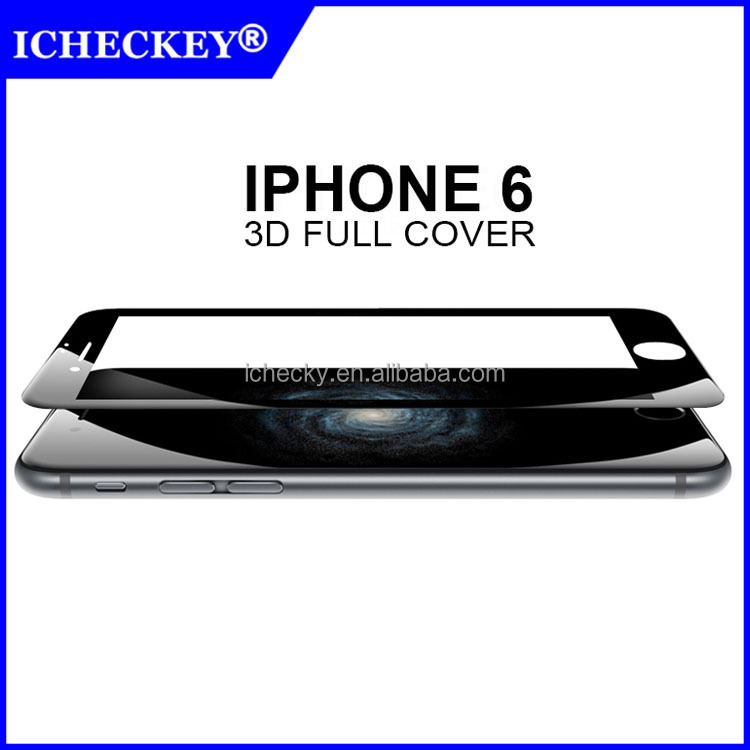 3D Full Cover Round Edge Tempered Glass Protector For iPhone 6 & iPhone 6 Plus Original Unlock