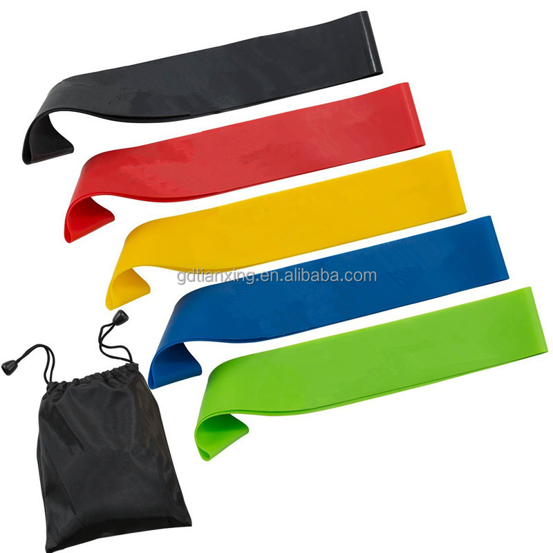 latex loop resistance band, latex exercise loop band set