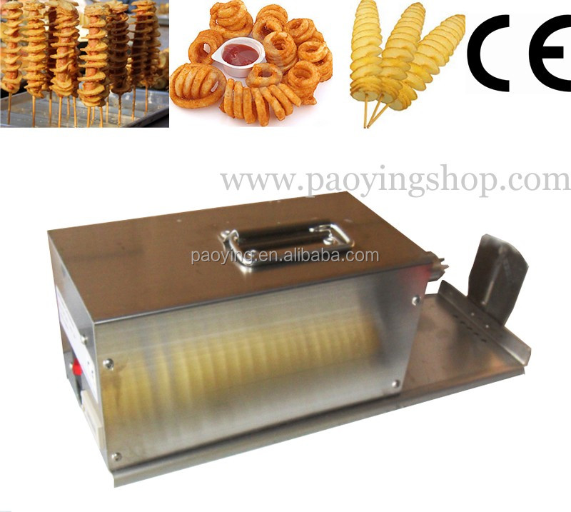 Commercial Use 110v 220v Electric Tornado Potato Cutter + Curly Fries + Twistered Hot Dog Potato Slicer