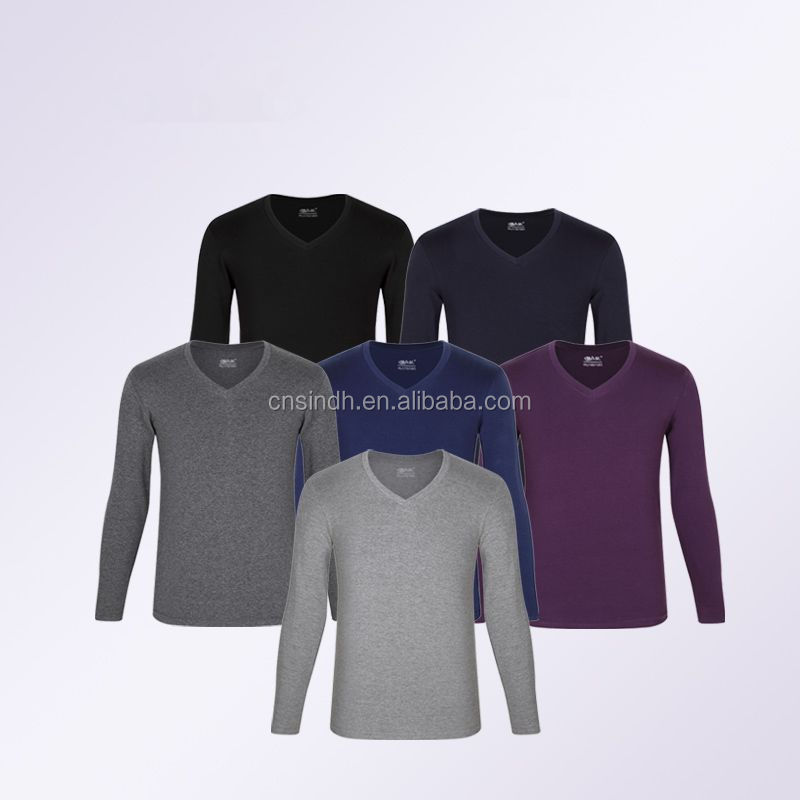 2015 new design V-neck long johns