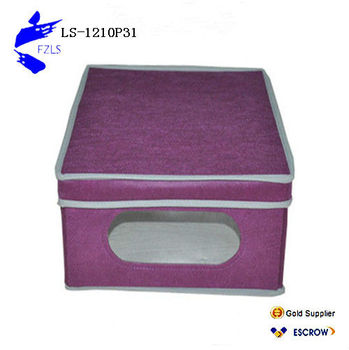Storage box with lid and window