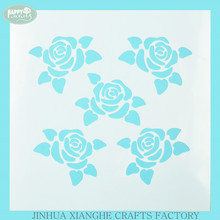 Rose Flower Pattern Drawing Stencil Stationary Plastic Stencil
