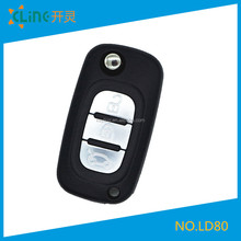 Renault flip remote car key shell fobs custom 3 buttons 2.5 renault car keys