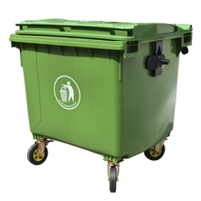 1100L SGS verified HDPE Plastic garbage can