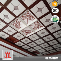 Fashion Gypsum 300 x 300 Laser Commercial Suspended Foshan Plafond Insulated Aluminum Ceiling