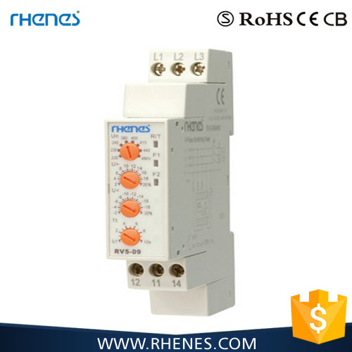 CE approval phase failure protection relay/voltage relay with LED indicator
