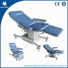 BT-DN012 CE mobile pvc cover medical hydraulic mobile hospital recliner chairs
