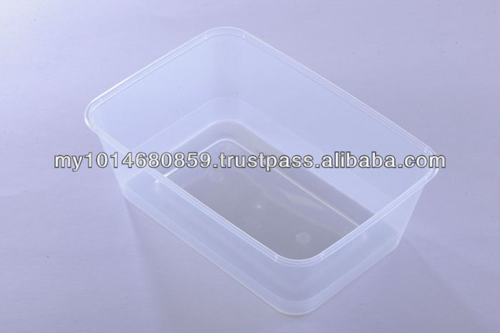 750ml Disposable and Microwaveable PP Food Container