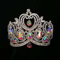 2017 Full Round Love Shape Big Rhinestones Pageant Crowns