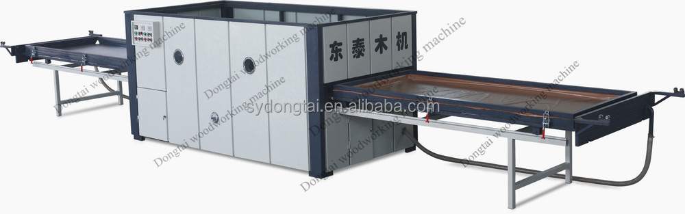 Double station vacuum membrane press machine