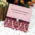 2014 Royal Indian Wedding Invitation Cards with Ribbon and Pearl