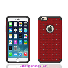 Shimmering diamond case shockproof multi-color attractive appearance silicon phone case for iphone 6