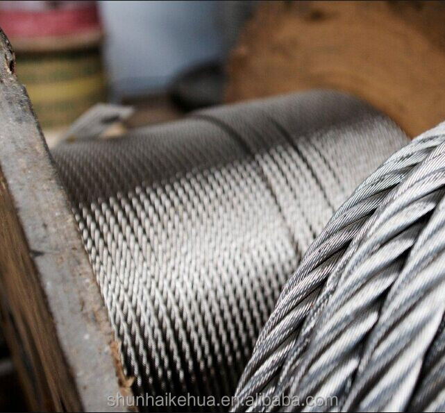 Galvanized Steel Wrie Rope, Ungalvanized Steel Wire Rope
