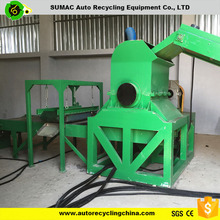 Rotating crusher machine of tire recycling equipment for sale