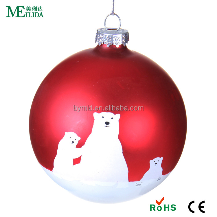 Hanging christmas tree decoration glass ball baubles
