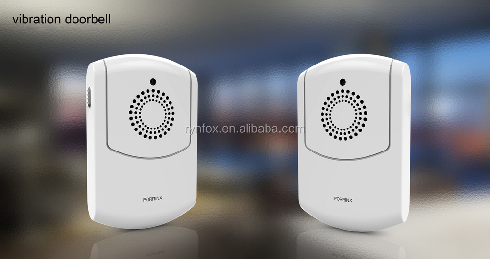 Loud flashing doorbell receiver and battery operated vibrating doorbell for deaf