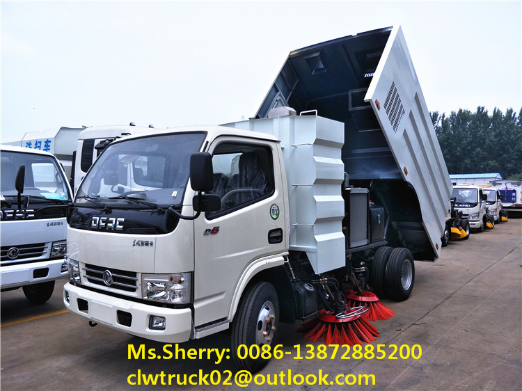 2017 special offer Dongfeng vacuum road sweeper truck at discounted price