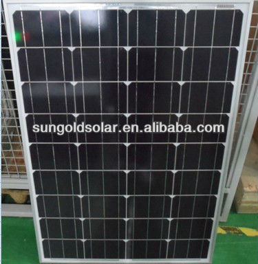 China manufacture supply mono crystalline silicon 18V 100 watt solar panel