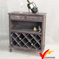 Shabby chic living room antique wine cabinet
