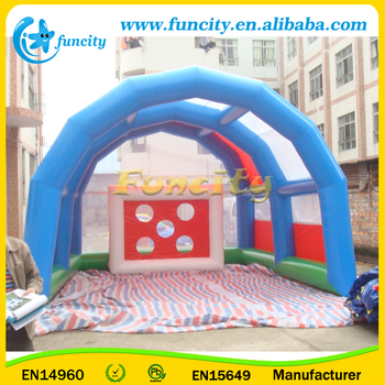 Customized Size Inflatable Soccer Shoot Games , Inflatable Football Goal
