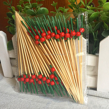 Party Decorations Bamboo Barbecue Skewer 12cm Long Cocktail Sticks for Fruit