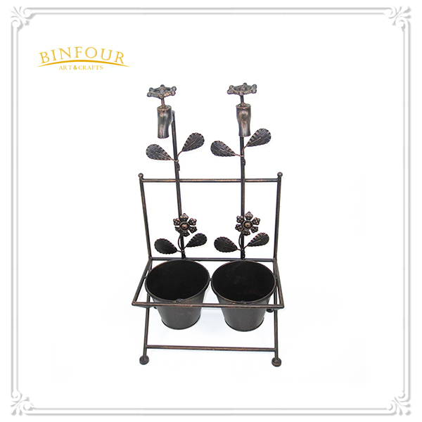 Garden supplies attractive colorful metal flower pot